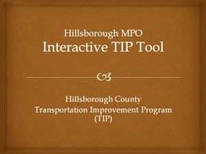 Hillsborough County Transportation Improvement Program (TIP) Tool